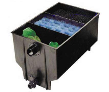 3 kammer filter 220 liter nettbutikk for Koi dam utstyr